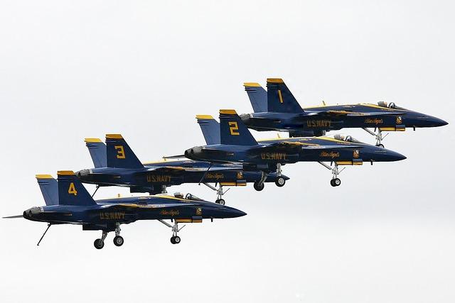 Airplane, Blue Angles, Aircraft, Sea Fair, Seattle
