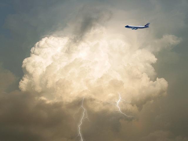 Airplane, Clouds, Lightning, Aircraft, Flight