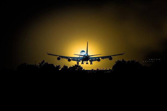 Sky, Airplane, Sunset, Silhouette, Aircraft, Travel