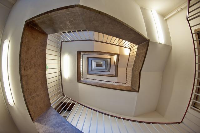 Staircase, Berlin, Tempelhof, Airport, Interior