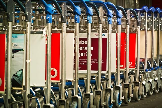 Airport, Baggage Car, Transport, Travel, Tourism