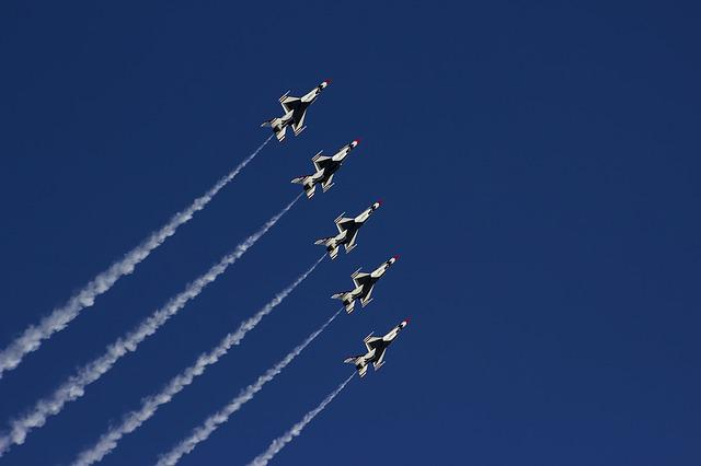 Airshow, Thunderbirds, Nellis Air Force Base, F-16