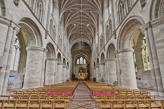 Aisle, Altar, Arch, Architecture, Building, Cathedral