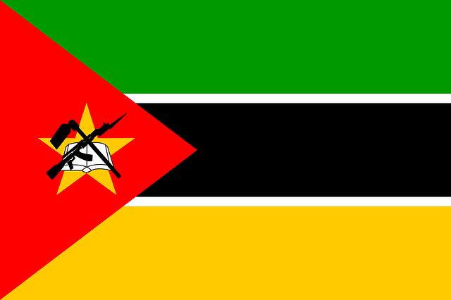 Mozambique, Flag, National, Symbol, Country, Ak-47