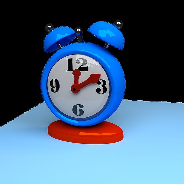 Clock, Time, Alarm, Blue Time, Blue Clock