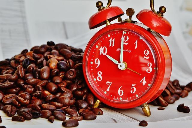 Coffee Break, Break, Alarm Clock, Time, Drink, Enjoy