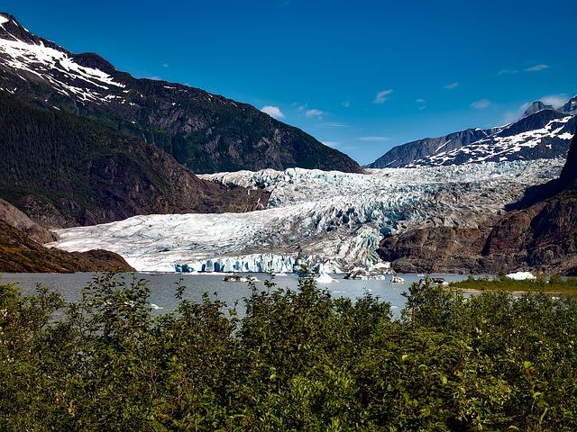 Mendenhall Glacier, Alaska, Ice, Juneau, Landscape