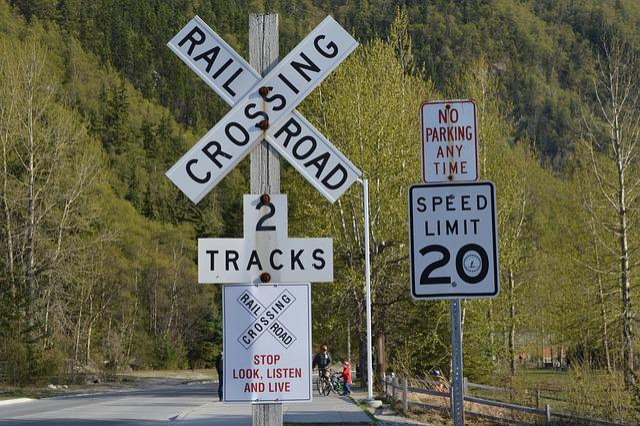 Skagway, Alaska, Usa, Traffic Signal, Rail Crossing