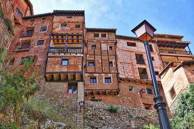 Albarracin, Aragon, Houses, Pretty, Roadway