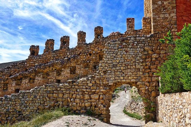 Stone, Wall, Construction, Albarracin, Rock, Village