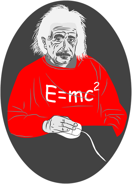 Albert Einstein, Mouse, White Hair