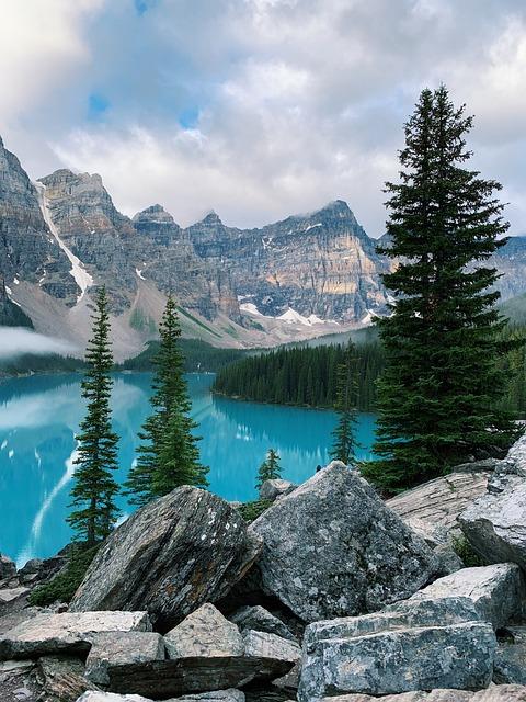 Canada, Banff, Alberta, Nature, Landscape, Water, Lake