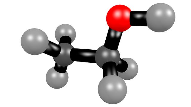 Ethanol, Alcohol, Molecule, 3d, Structural Formula