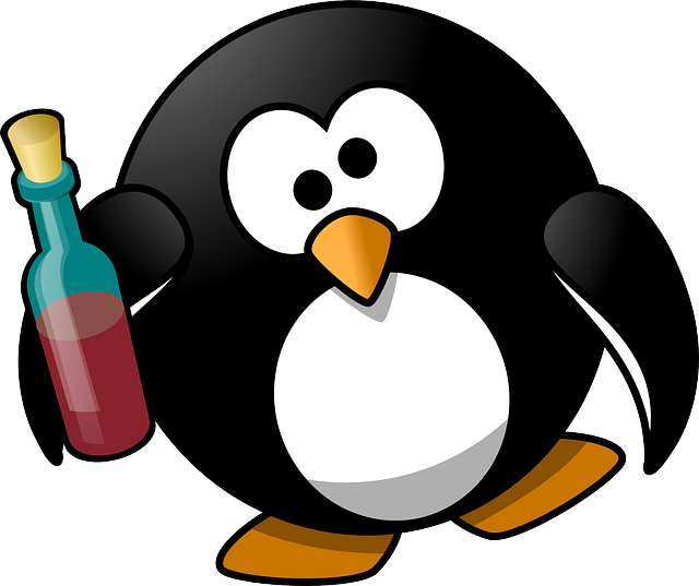 Tux, Alcohol, Alcoholic, Animal, Bird, Booze, Boozy