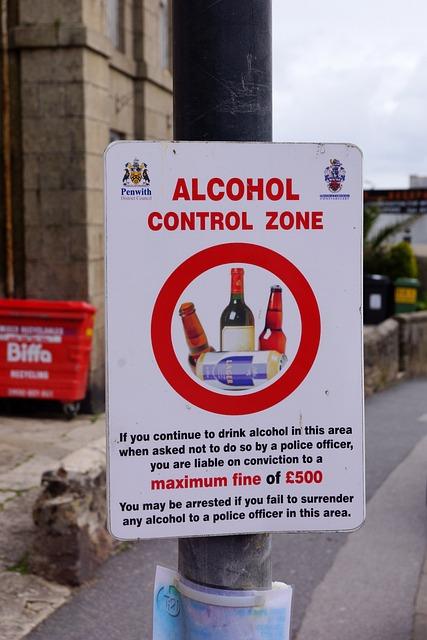 Ban, Alcohol, South Gland, Shield, Arrangement