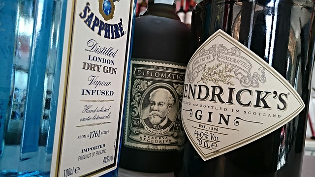 Rum, Gin, Alcohol, Bar, Alcoholic, Tonic, Bottles
