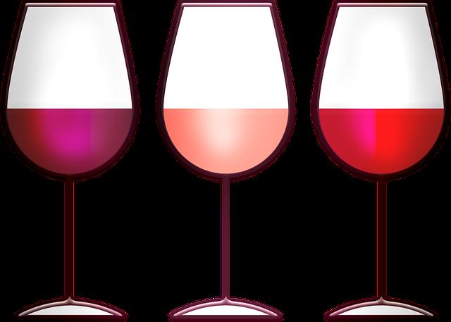 Wine, Red, White, Blush, Glass, Drink, Alcohol, Vine