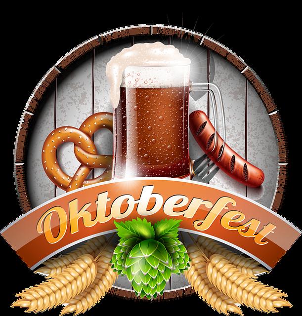 Oktoberfest, Beer, Sausage, Pretzel, Drink, Alcohol