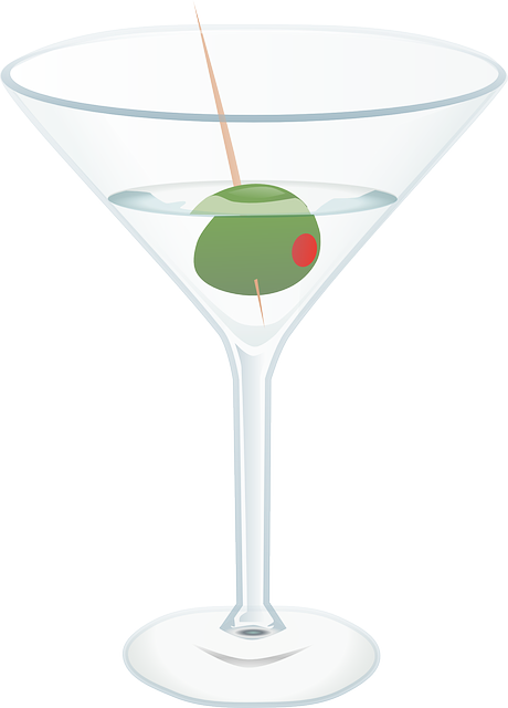 Martini, Cocktail, Glass, Alcohol, Drink, Food, Olive