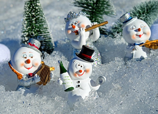 Snow Man, Wine, Drink, Alcohol, Drunk, Eismann, Cute