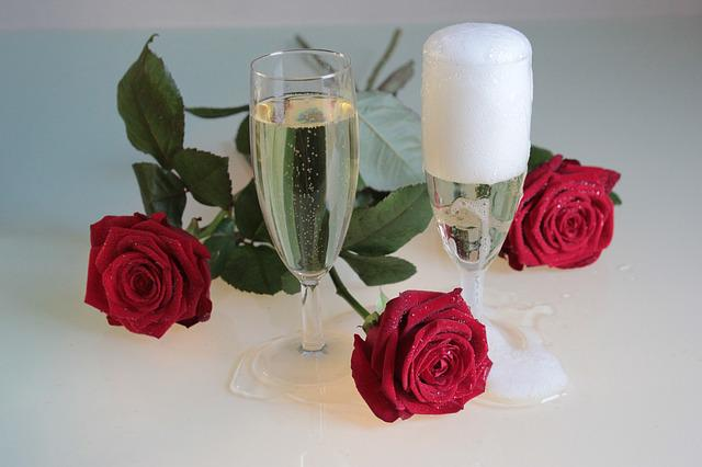 Roses, Champagne, Drink, Temptation, Alcohol