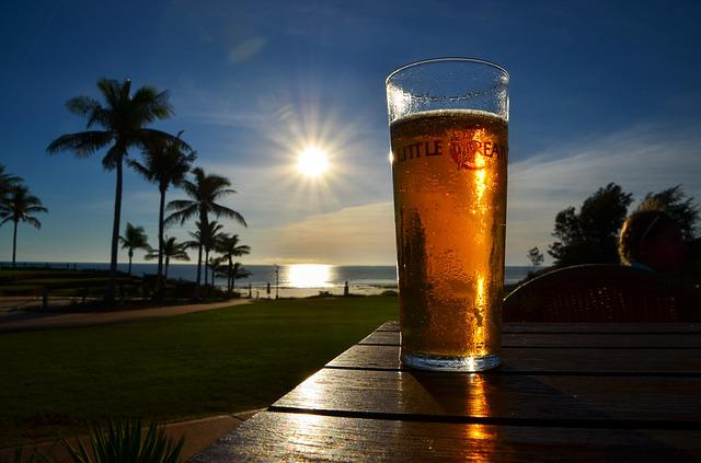Sunset, Sunlight, Beer, Thirst, Glass, Ale, Pint, Drink