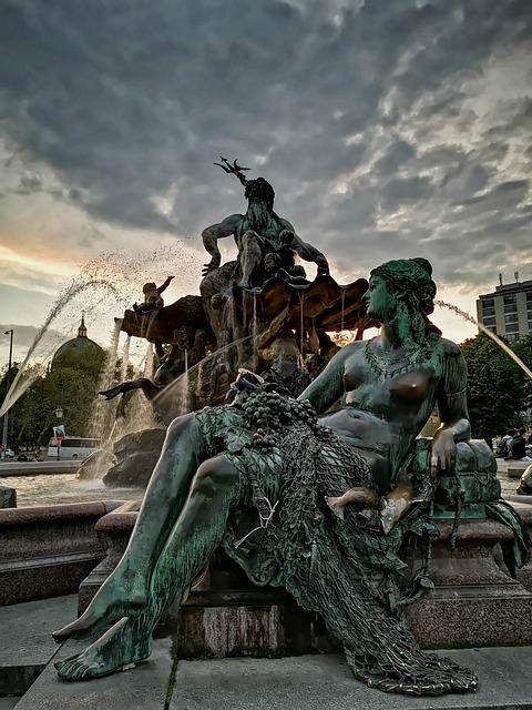 Neptunbrunnen, Berlin, Mystical, Mood, Alexanderplatz