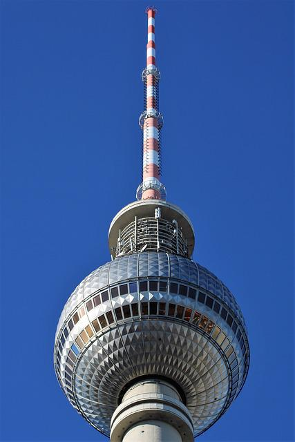 Tv Tower, Berlin, Alexanderplatz, Landmark, Sky
