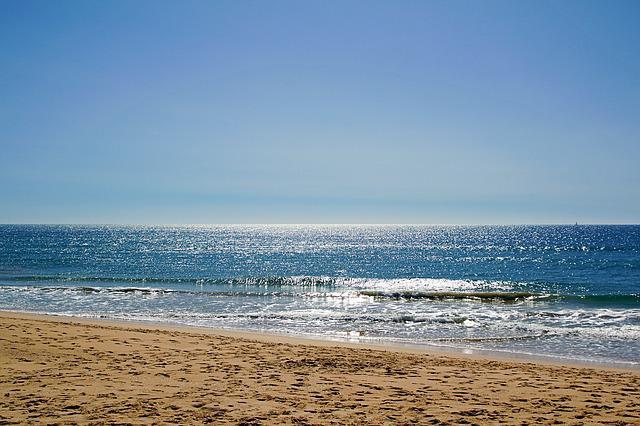 Faro, Algarve, Portugal, Mood, Sky, Empty Beach