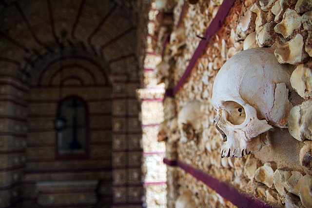 Faro, Portugal, Algarve, Bone Chapel, Monks, Skull