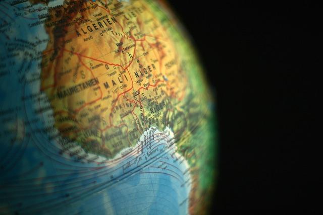 Globe, Algeria, Niger, Mali, Africa, Continents, Earth
