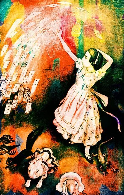 Vintage, Book Illustration, Alice In Wonderland