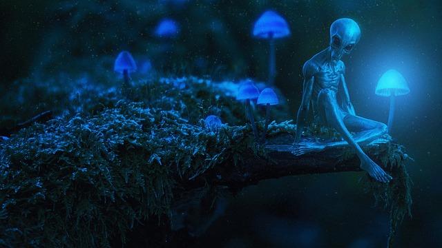 Alien, Fantasy, Photo Manipulation, Blue, Light