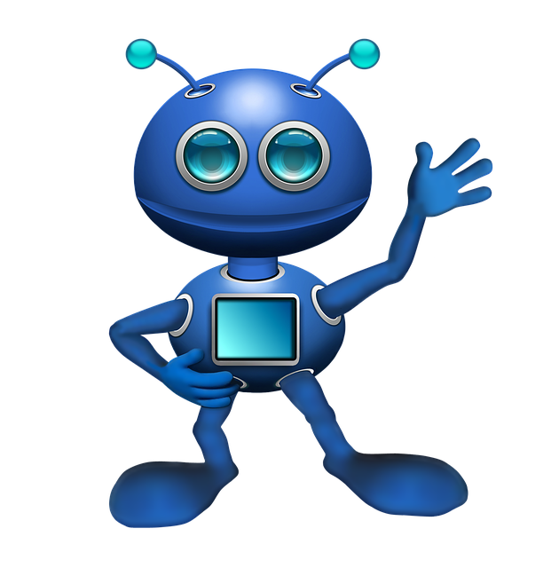 Alien, Robot, Android, Antennae, Blue, New Technologies