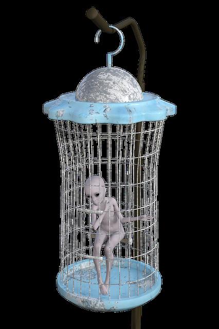 Alien, Cage, Trapped, Solitude, Punishment, Prisoner