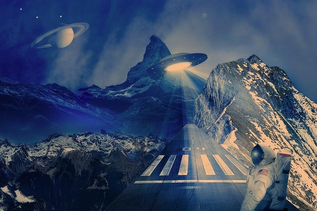 Ufo, Spaceship, Runway, Space, Alien, Cosmos, Flying