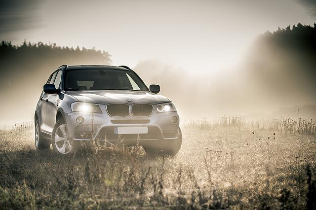 Bmw, Suv, All Terrain Vehicle, Fog, Autumn, Rainy Day