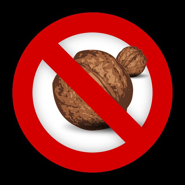 Tree Nut, Allergy, Food, Allergen, Walnut, Sign