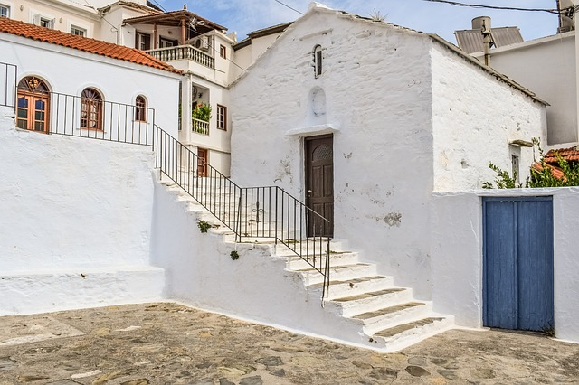 Greece, Skopelos, Chora, Village, Street, Alley, Stairs