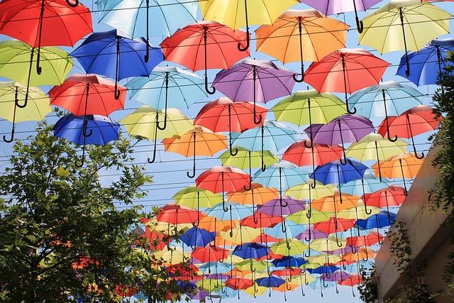 Umbrellas, Alley, Sun, Shadow, Vacation, Ukraine