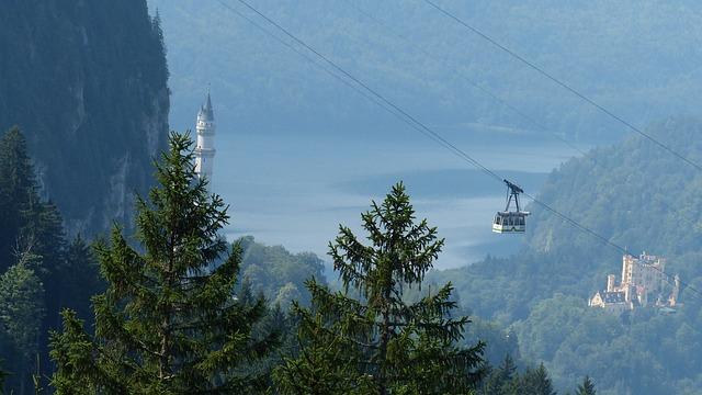 Allgäu, Neuschwanstein Castle, Mountains, Fairy Castle