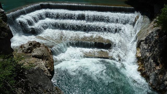 Allgäu, Füssen, Lechfall, Waterfall, River, Spray