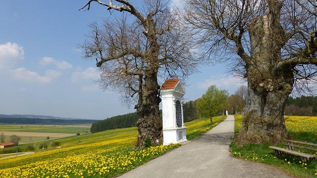 Allgäu, Spring, Georgi Mountain, Way Of The Cross