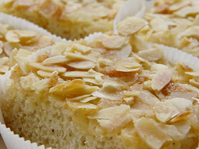 Butter Cake, Almonds, Almond Tiles, Cake, Bake