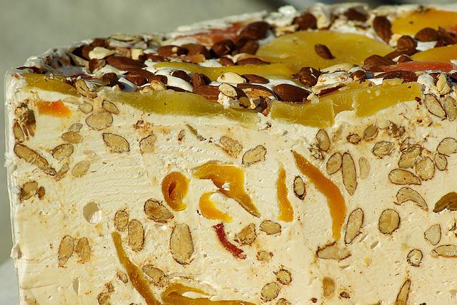 Nougat, Almonds, Honey, Candied Fruit