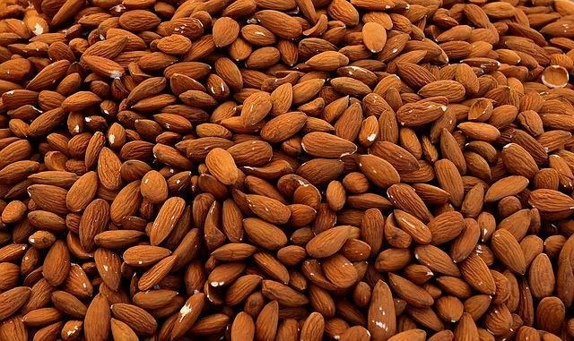 Almonds, Cores, Nuts, Fruit