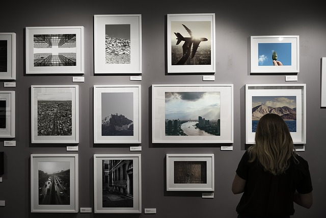 Alone, Art Gallery, Caucasian, Copy Space, Creative