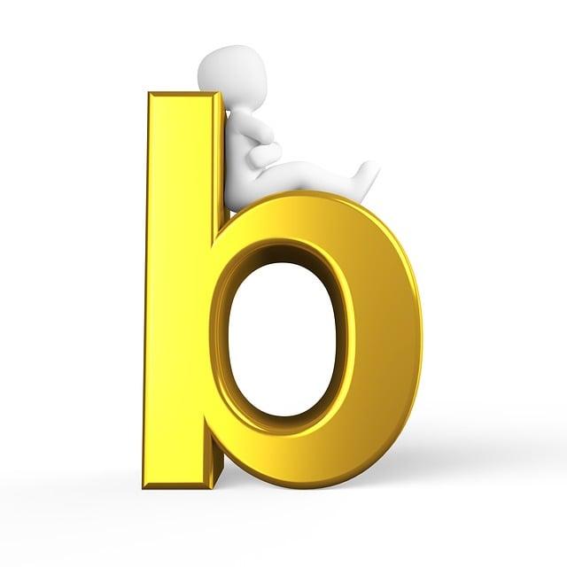 B, Letter, Alphabet, Alphabetically, Abc