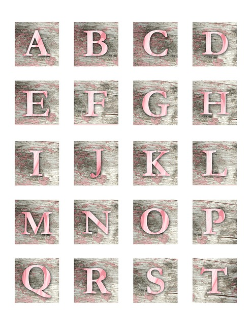 Alphabet, Letters, Letter, Block, Wood, Watercolor