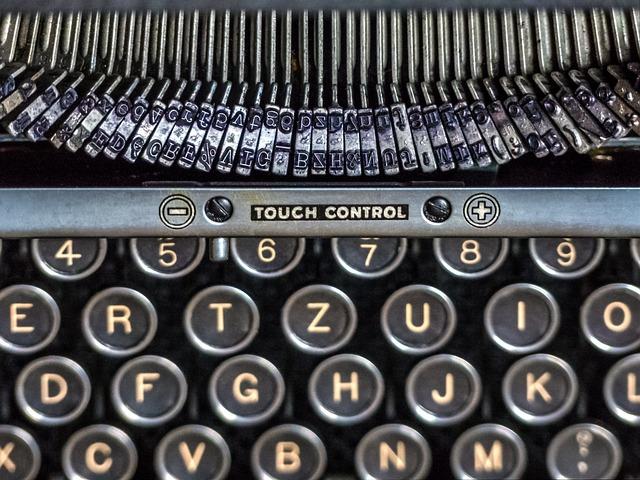 Typewriter, Keyboard, Alphabet, Technology, Mechanics